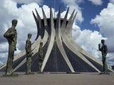 Cathedral, Brasilia, Unesco World Heritage Site, Brazil, South America - Walter Rawlings