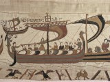 Invasion Fleet, Bayeux Tapestry, France - Walter Rawlings