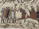 King Harold's Foot Soldieres with Spears and Battle Axes, Bayeux Tapestry, Normandy, France - Walter Rawlings