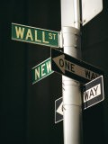 Wall Street Sign, New York City, New York State, USA - Walter Rawlings