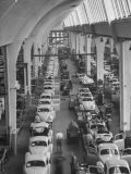 Interior View of Volkswagen Plant, Showing Assembly Lines - Walter Sanders