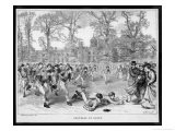 At Rugby School a Crowd of Schoolboys Run after the Ball at Rugby - Walter Thomas