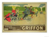 "Poster Advertising ""Griffon Cycles, Motos & Tricars"" - Walter Thor"