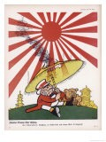 When Japan Enters the War John Bull Finds the Rising Sun a Little Too Hot for Him! - Walter Trier