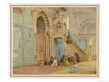 Moslems at Prayer in the Blue Mosque Cairo - Walter Tyndale