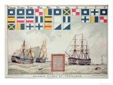 Nelson's Signal at Trafalgar, 1805, 'The Boy's Own Paper' Commemorate Hms Victory, Portsmouth, 1885 - Walter William May