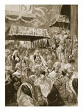 The Procession from Westminster Hall at Coronation of George III and Queen Charlotte - Walter Wilson