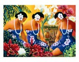Silent Preparation, Hawaiian Hula Dancers - Warren Rapozo