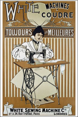 White machines a coudre posters affiches d 39 art - Machine a coudre dessin ...