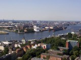 A View Over the City and Port from Michaeliskirche, Hamburg, Germany - Yadid Levy