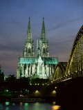 Cologne Cathedral, and Hohenzollern Bridge at Night, North Rhine Westphalia - Yadid Levy