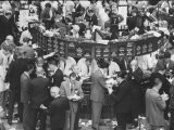 Frantic Day at the New York Stock Exchange During the Market Crash - Yale Joel