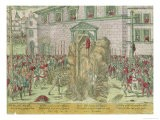 The Execution of Anne of Bourges by Hanging and Burning at the Stake, 21st December 1559 - Zacharias Dolendo