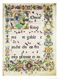 """Page of Choral Music with Historiated Initial """"O"""" Depicting the Calling of St. Peter and St. Andrew - Zanobi Di Benedetto Strozzi"""