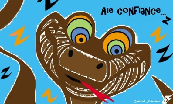 Art Numerique Confiance Kaa Python Hypnose Livre De La