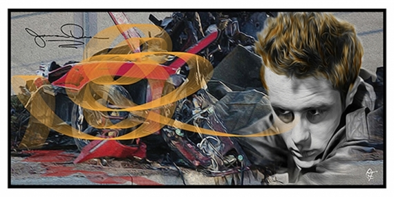 ART NUMéRIQUE Evenement  - Porshe accidentée de James Dean