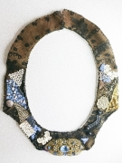 art textile mode abstrait collier art textile : COLLIER 009