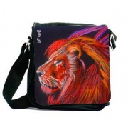 art textile mode animaux sac lion mode animaux : Sacoche Red lion