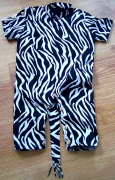 art textile mode animaux savane animal zebre enfant : Combinaison sauvage