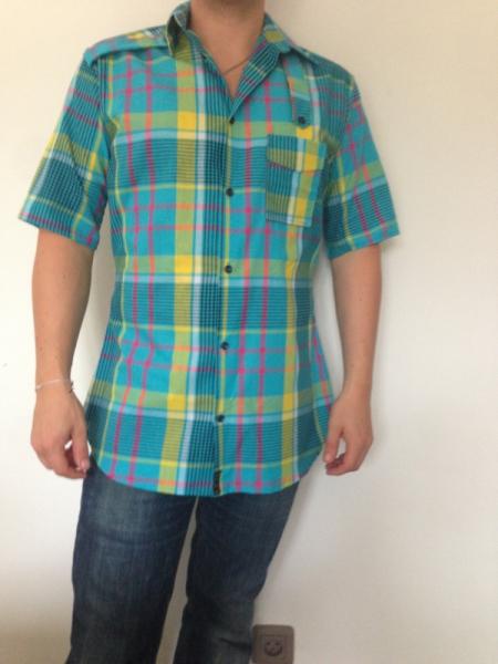 Carreaux art madras chemise homme mode madras textile zzzarwi - Mode carreaux ...