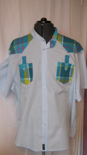 Mode Bleumadras Chemise Textile Homme Originale Art Xxxl w0Pgn6