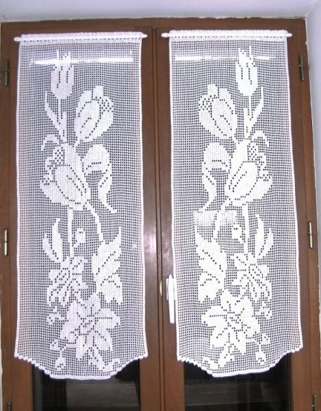 ART TEXTILE, MODE rideaux crochet fait rideaux brise vue fl rideaux ...