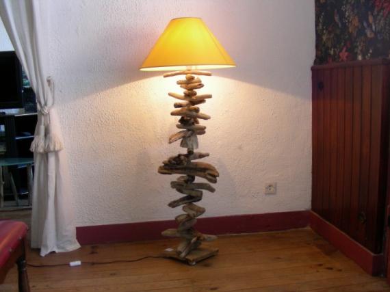 Artisanat D Art Bois Flotte Decor Zen Grande Lampe