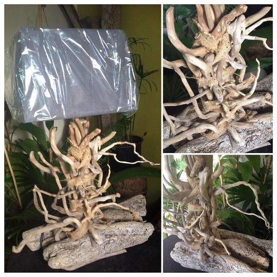 Artisanat D Art Bois Flotte Decoration Naturel Design Lampe De