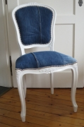 autres autres patchwork jean s recycle : Chaise Louis XV
