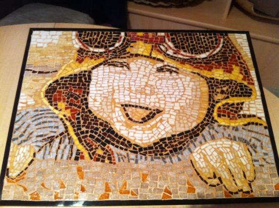Mosaique En Ceramique céramique, verre mosaique enfant - tableau mosaique - le petit aviateur