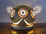 deco design abstrait luminaire calebasse : Wheelies