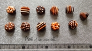 deco design aimants frigo magnets chocolat idee cadeau cadeau noel : Magnets aimants Fimo chocolat orange