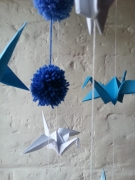 deco design animaux grue enfant mobil hand made : Les Grues