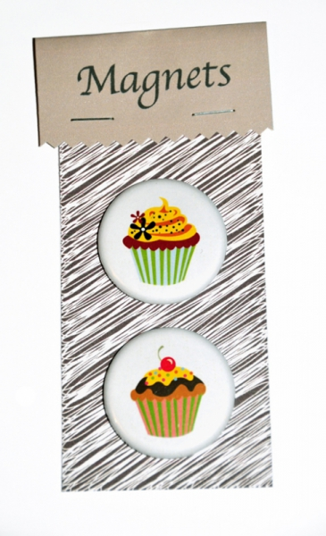 DéCO, DESIGN magnets rose magnets cuisine aimant amusant magnet gateau Nature morte  - MAGNETS CUPCAKES noeud rose...