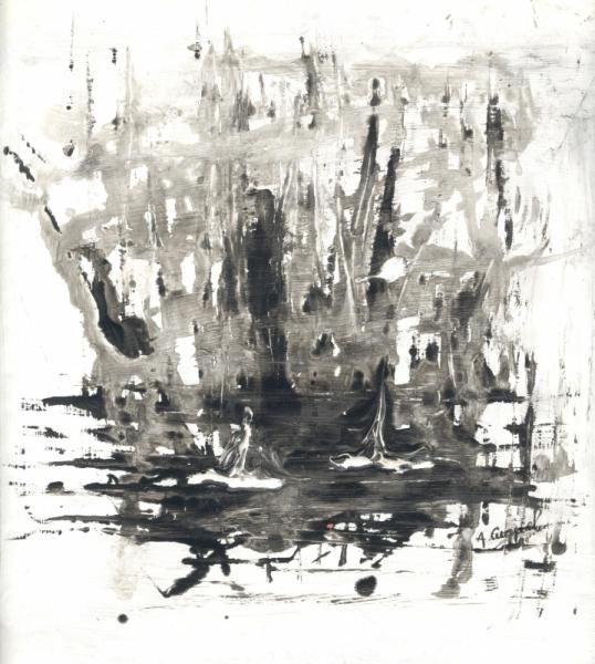 Dessin Abstrait Noir Et Blanc Encre Enigme Enigme