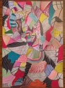 dessin abstrait : The Psychedelic Cat