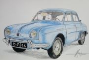 dessin autres voiture ancienne dauphine renault : dauphine