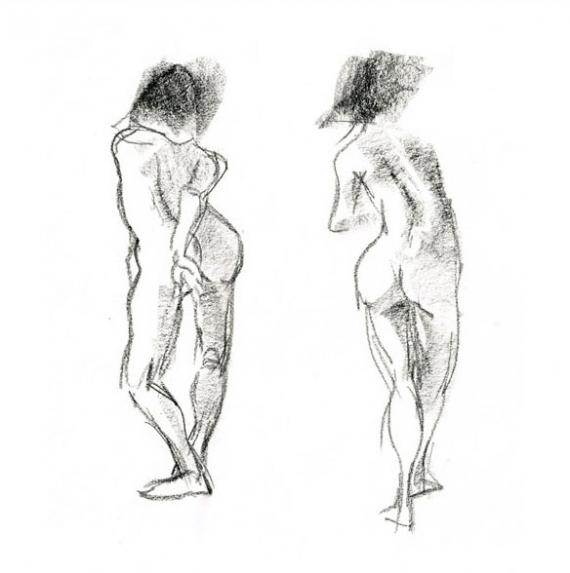 Femme Dessin Corps dessin corps croquis - nue femme, étude