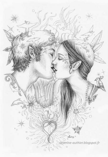 Dessin Couple Amoureux Dessin Douceur De Douces Retrouvailles