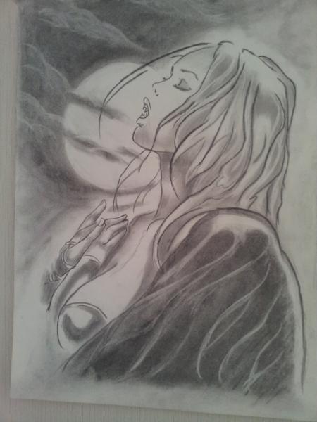 Dessin Femme Vampire Dessin Au Crayon Eric
