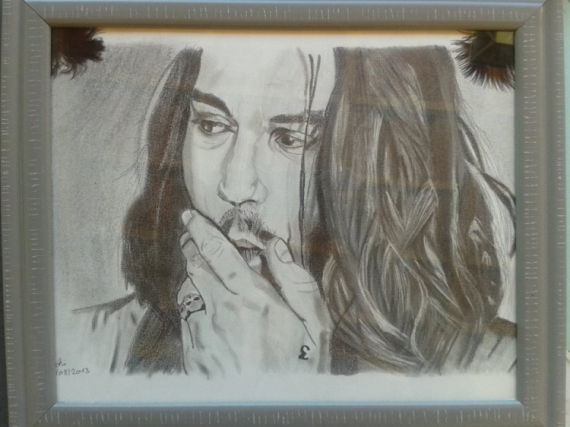 DESSIN Johnny Depp Acteur Hollywood Personnages Crayon  - Johnny depp