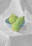 dessin nature morte poire fruits dessin nature morte : Les 3 poires