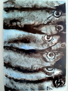 dessin nature morte poissons regards nature composition : les sardines