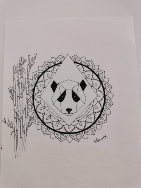 Dessin Panda Animaux Noir Et Blanc Panda