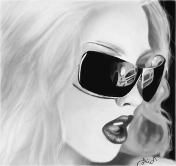 Dessin Dessin Photoshop Femme Noir Blanc