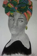 dessin personnages femme africaine culture tradition : femme africaine
