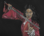 dessin personnages femme chine guerriere : Mulan