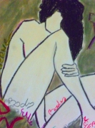 dessin personnages femme corps pastels dessin : Body art