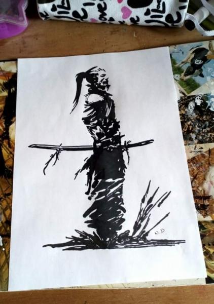 Dessin Homme Samourai