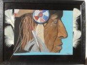 dessin personnages indien amerindien amerique native : wounded knee